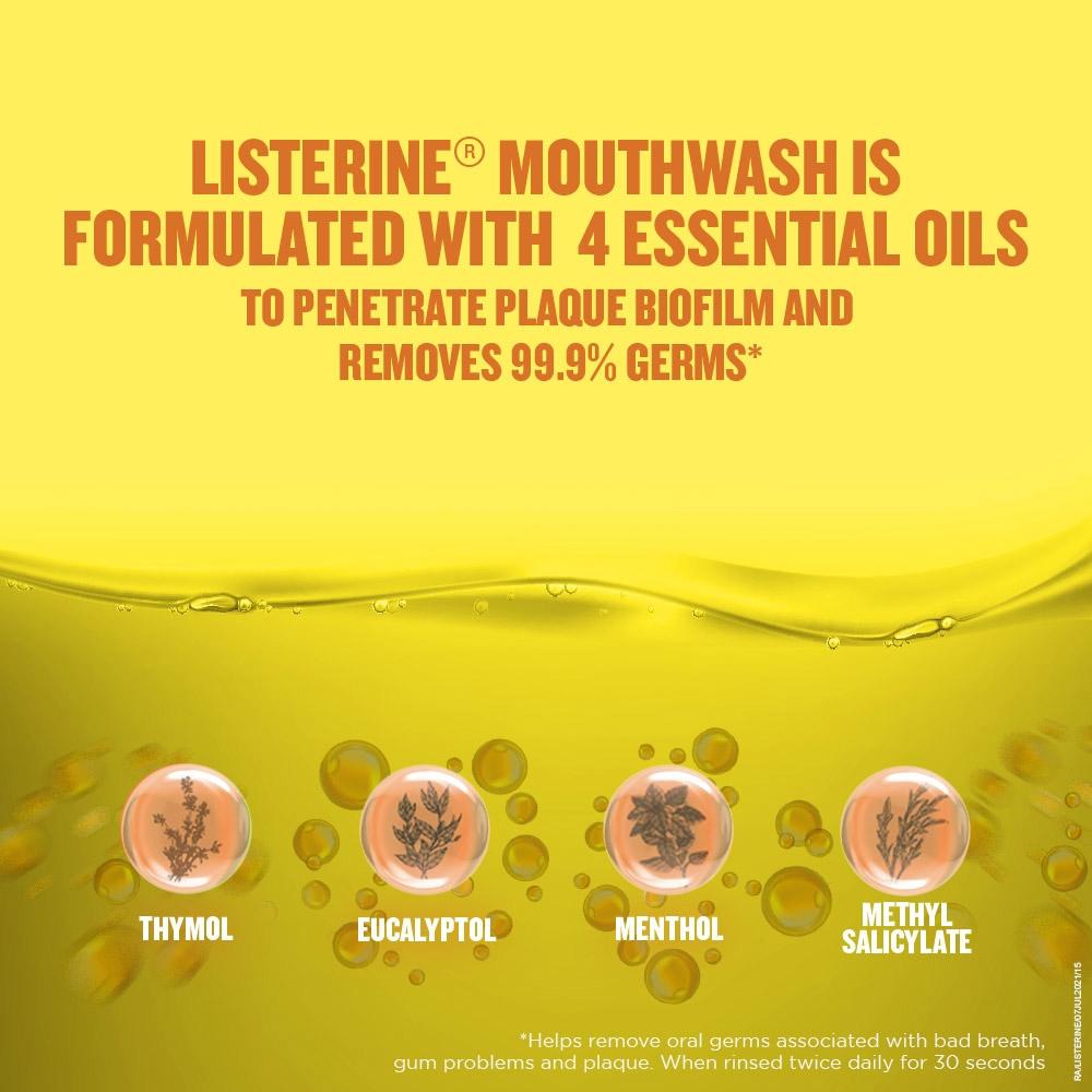 Listerine Mouthwash Essential Oils